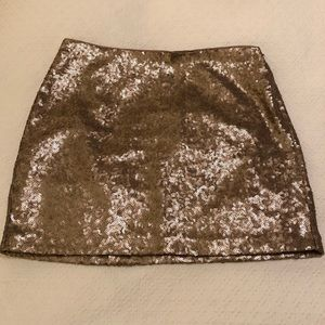 NWT Gap Gold Sequin Mini Skirt